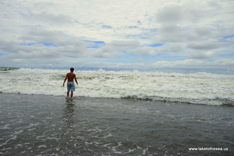 Warm ocean water makes this man SO happy.